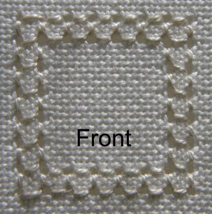 de quatro lados, front-stitch (36K)