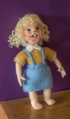 Photo of needle felted doll