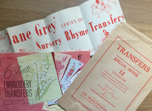 Iron on transfers for embroidery