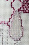 Seed beads used for an earring