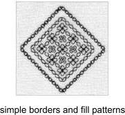 Blackwork border motif