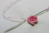 bullion rose - basic embroidery stitches