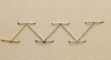 Completed chevron stitch