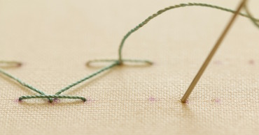 Step 1 stab stitch method
