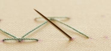 Step 1 stab stitch method2