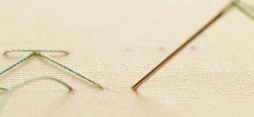 Step 3 stab stitch method