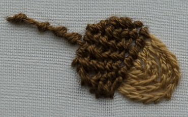 embroidered acorn