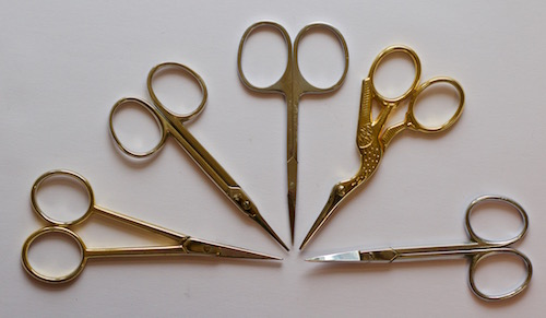 Part of my collection of embroidery scissors