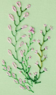 stitched greenery