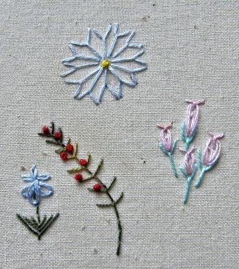 fly stitch flowers