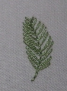 How to embroider a leaf - different stitches for different