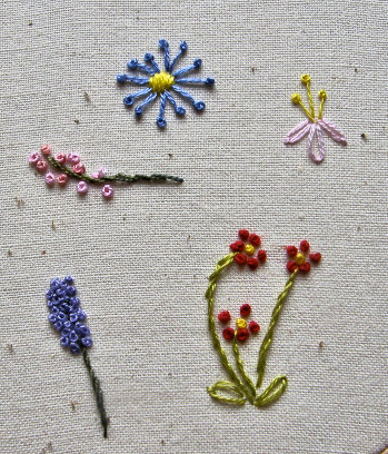 french knot flowers