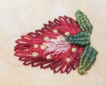 I have stitched my sample on Aida, but you can use any embroidery fabric.  In the photograph above I used a firm linen cloth. The woven picot leaves  add more ...