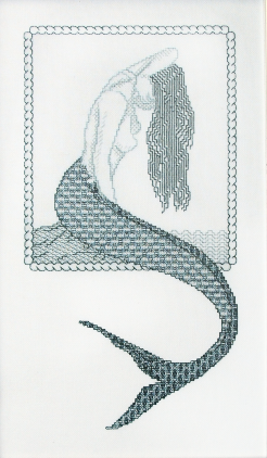 Mermaid in blackwork