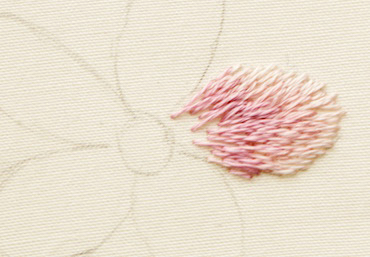 Thread painting (long and short stitch)