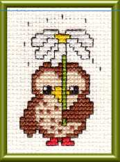 Easy to stitch owl design to help you learn how to cross stitch