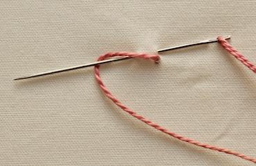 twisted chain stitch step 1