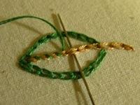 whipped chain stitch instructional photo