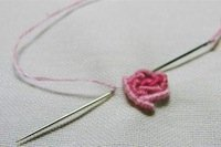 bullion rose - basic embroidery stitches