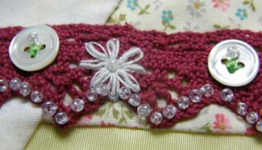 Bullion stitch flowers