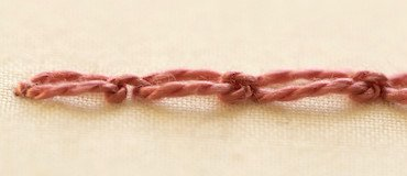 cable chain stitch from the side