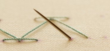 Step 1 stab stitch method2