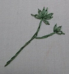 How to embroider a leaf - different stitches for different effects