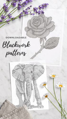 Click to go to the downloadable Blackwork patterns