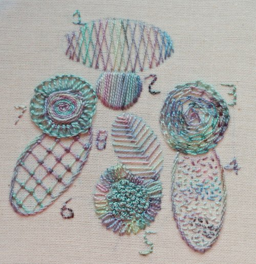 Learn how to do blackwork embroidery patterns
