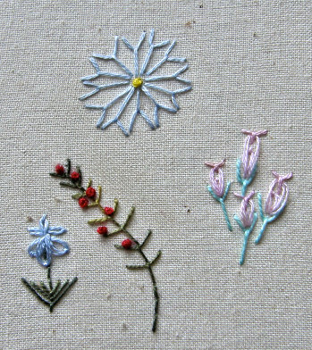 fly stitch flowers