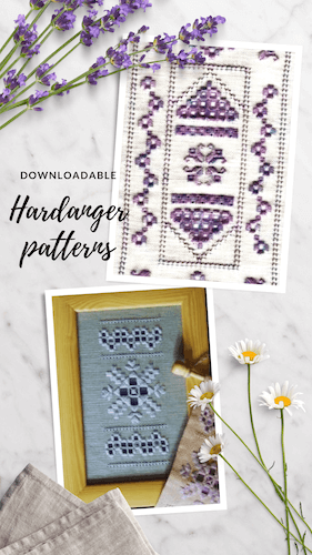 Hardanger embroidery patterns to purchase and download