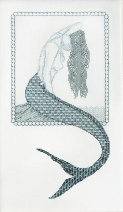 Mermaid in blackwork
