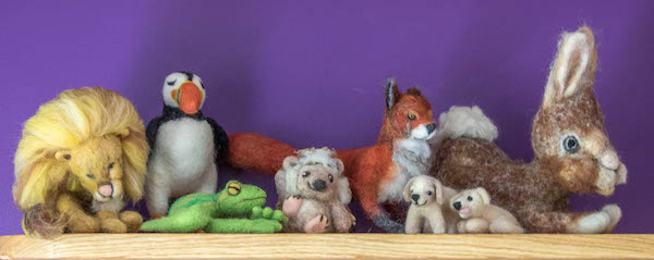 A selection of my needle felted animals