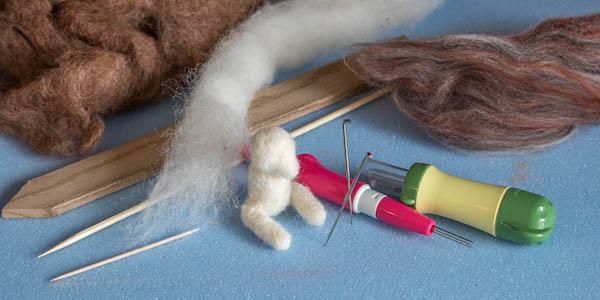 Photo of needle felting equipment