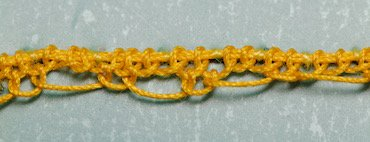 Pea stitch step 1