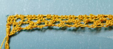 Pea stitch step 2