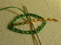 whipped chain stitch instructional photo